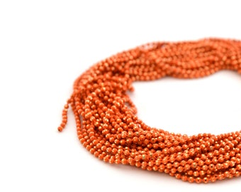 chain 50cm 1.2 mm metal orange and gold beads