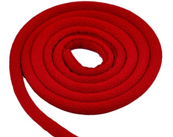 Cord Textile, circular - 6mm - red - 50cm - 2 RUBTEXRD615RG635