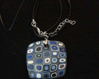 Necklace and pendant polymer clay - and so forth and so