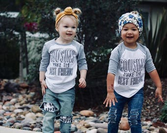 Cousins Kids Shirts, Cousin Bestie Shirt, Cousin Best Friend shirt, Kids Shirt, Best Friend kids shirt, BFF shirt, Matching kids shirts,kids