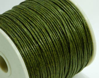 5 m of 1 mm khaki waxed cotton cord