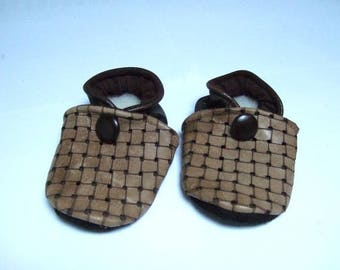 15 c booties babies in shades of Brown