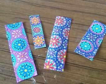 Handmade Flower Bookmarks Set