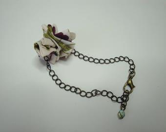 Bronze liberty bracelet on chain