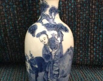 Antique Bleu de Hue Vase