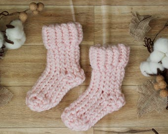 Pink Knit Baby Booties, baby socks, knit baby socks, knit baby booties, knit baby slippers, baby slippers, baby shoes, baby boots, socks