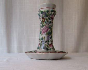 1940s Hat Pin Holder Porcelain Chinese Floral design