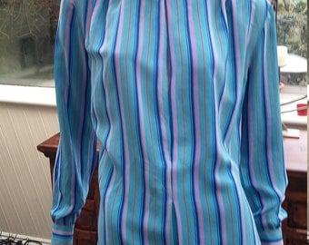 Vintage 80s silk blouse size 10-12