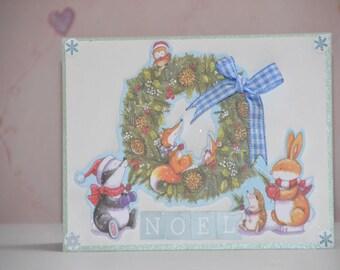 Christmas card children 3D my first Christmas