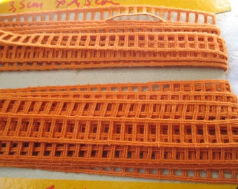 7 m stripe vintage orange shaped 1.5 cm wide
