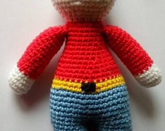 Little man crochet Hat embellished with