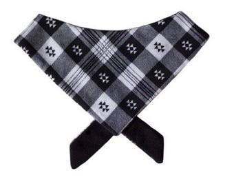 Southwest Plaid Tie On Pet Bandana or Bow Tie