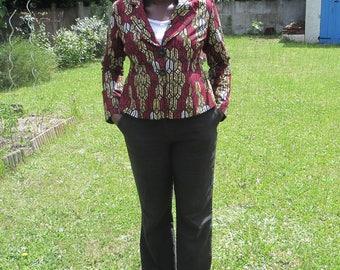 Women's fitted Ankara jacket