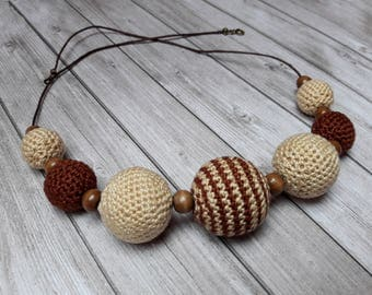 Crocheted Wooden beads