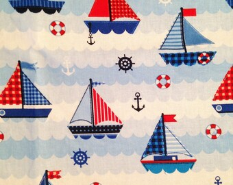 boats pattern cotton coupon