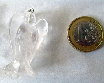 Quartz - ref26586 - silver - mounted carved Angel