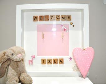 Personalised Newborn Handmade Picture