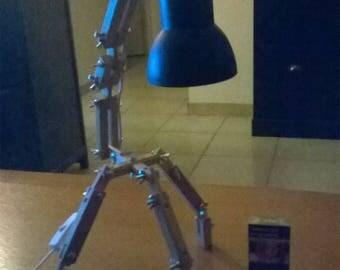 art deco wooden articulated lamp