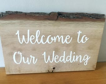 Rustic Wedding Sign *Customisable*
