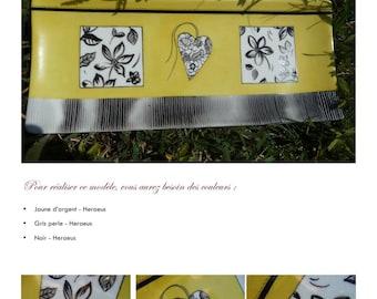 Jaune d'argent Fiche créative peinture sur porcelaine