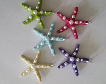 Starfish Necklace with Pearls