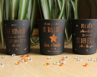 Trio of scented candles