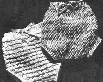 Baby Soaker Vintage Crocheted Soaker and Knitted  Pattern *PDF Instant Download*