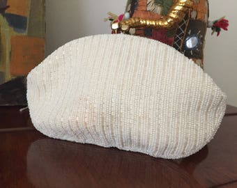 Made in Japan Styled By Simon ivory beaded Evening Wristlet