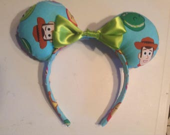 Toy Story Emoji Ears (Green Bow)