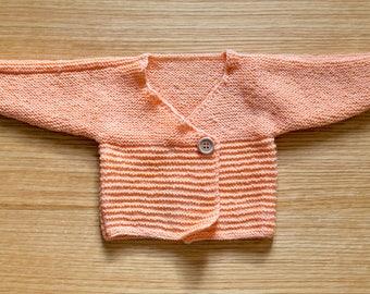 Salmon - acrylic and wool vest