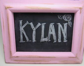 Chalkboard Frame with Wooden Tray-Set