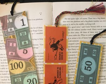 Monopoly Board Game Bookmarks