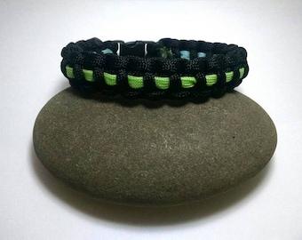 Green & Blue Glow in the Dark Reversible Bracelet