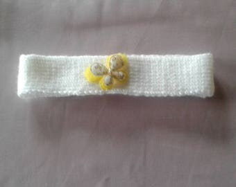 Headband for baby with butterfly
