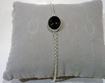 Bracelet in silver and Black Onyx.