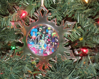 Monster High Personalized Acrylic SnowFlake Ornament *Free Personalization*
