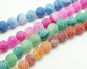 assorted 10 son 93 (approx) agate beads creating jewelry 4 mm dragon vein - agate Rosary beads 4 mm dragon vein