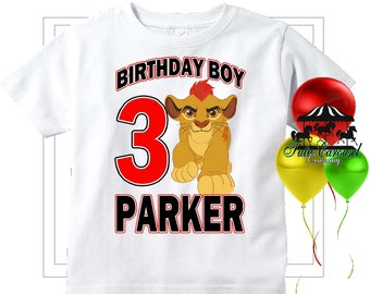 Kion The Lion Guard Birthday Shirt, Personalized Shirt, Matching shirts, Toddler Youth Adult  (mc199)