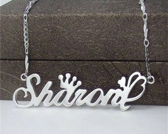 Personalized name necklace little girls,Custom necklace with quote,Custom Name Necklace Personalized Silver for wedding,Gifts ,Birthday
