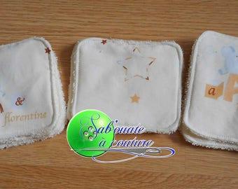 Set of 6 cotton wipes sponge Anatole