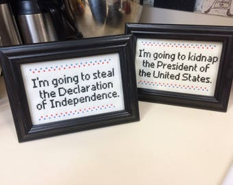National Treasure quote double frame set
