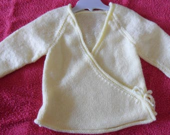 wrap coat jacket yellow straw-12 months