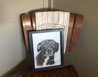 Pet memorial drawing (custom)