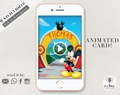 Mickey Mouse Video Invitation. Mickey Clubhouse animated invitation. Invitacion animada video Mickey Mouse