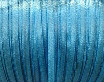 1 meter Ribbon blue 4 mm satin ❤ ❤