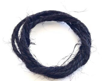 X 2M BLACK 2MM NATURAL HEMP CORD