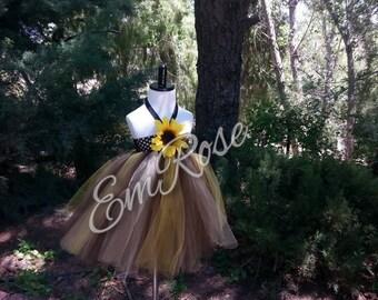 Sunflower Tulle Tutu Dress