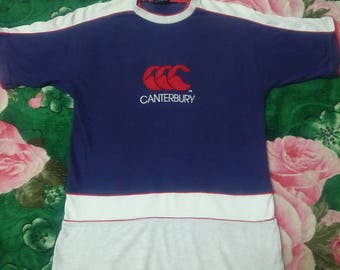 Vintage Canterbury of New Zealand Embroided Big Logo t shirt L size