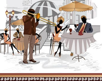 ORIGINAL design, durable and WASHABLE PLACEMAT - Paris 6 - classic holiday.