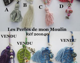 1 piece of wearable leaf wood fabric tassel / DS / Keychain / choice / 201040